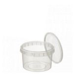 480ml Tamper Evident Clear Cont & Lid set [48012]